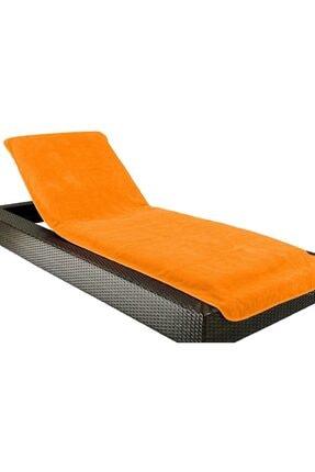 DensHaus %100 Pamuk Orange Plaj Şezlong Havlusu