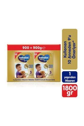 Bebelac Gold 3 Devam Sütü 1800 gr (900 gr + 900 gr) 1 Yaşından İtibaren