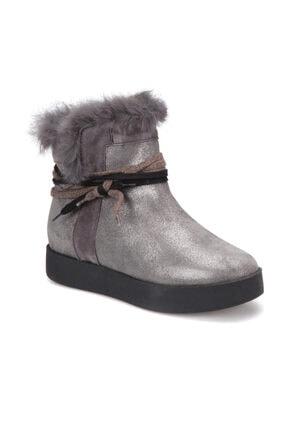 Butigo 2867/11-17SK Gri Kadın Deri Ayakkabı 100316312