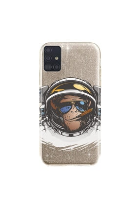cupcase Samsung Galaxy A71 Kılıf Simli Parlak Kapak Altın Gold Renk - Stok312 - Monkey Fly