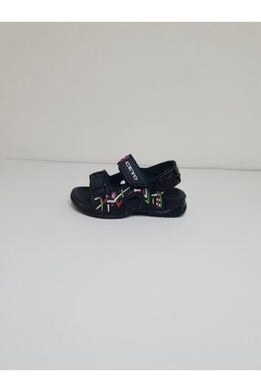 Ceyo Erkek Çocuk Siyah Yanları Renkli Desenli Sandalet 4000-36
