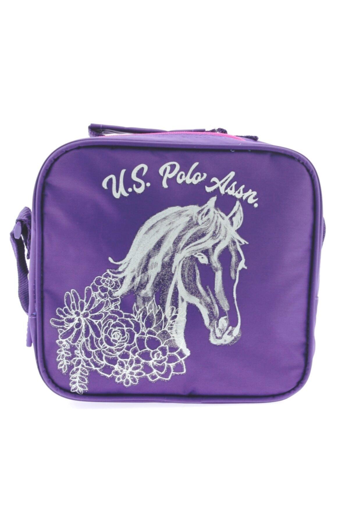 U.S. Polo Assn. Polo Mor Çiçekli Beslenme Çantası 49492 1