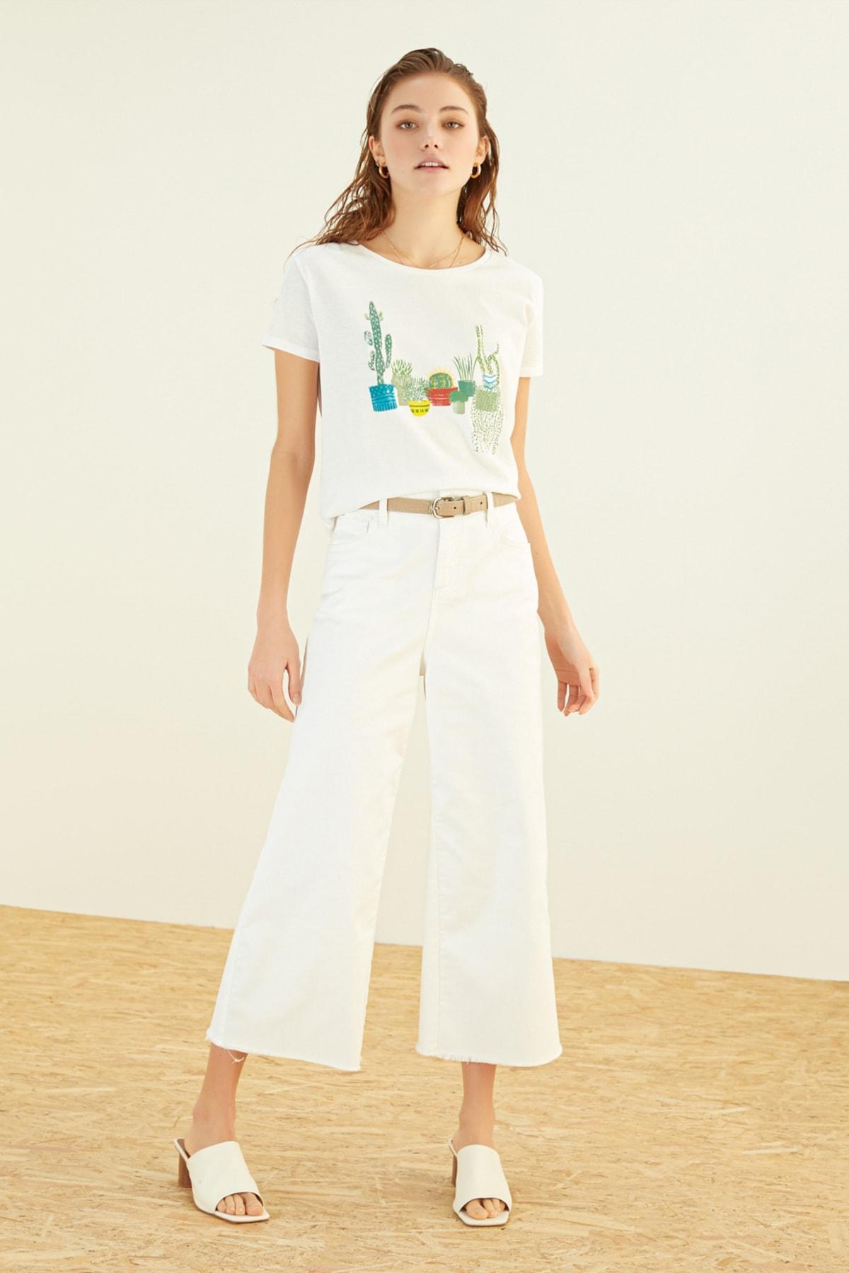 Mudo Kadın Beyaz T-Shirt 384690 1