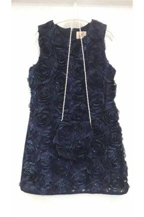 Bella Kız Cocuk Lacivert Elbise