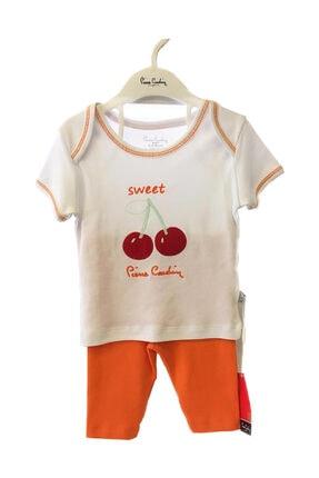 Pierre Cardin Baby Bebek Turuncu Kiraz Baskılı Takım