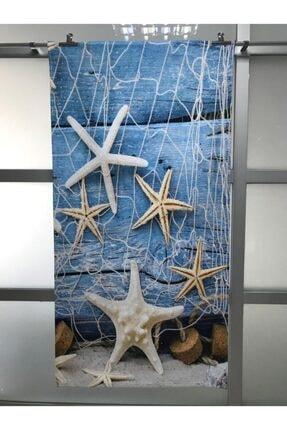 bkm22 3d Deniz Yıldızı Plaj Havlusu