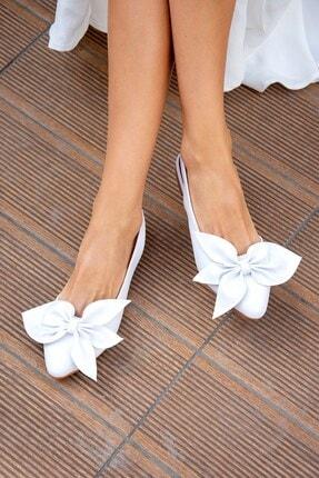 Fox Shoes Beyaz Kadın Babet H726809009