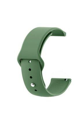 Techmaster Samsung Gear Watch 42mm Gear Sport Active 2 40 44mm Tme Yeni Silikon Kordon Haki 20mm