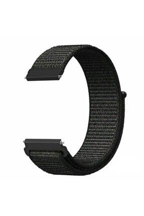 Techmaster Samsung Gear Watch 42mm Gear Sport Active 2 40 44mm Örgü Tme Kordon Kayış Siyah 20mm