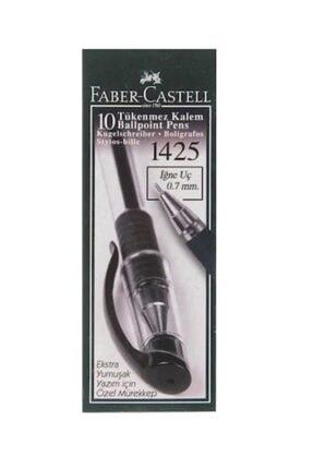 Faber Castell Faber-castell 1425 Iğne Uç Tükenmez Kalem Siyah 10 Lu 5211142599000 (1 Paket 10 Adet)