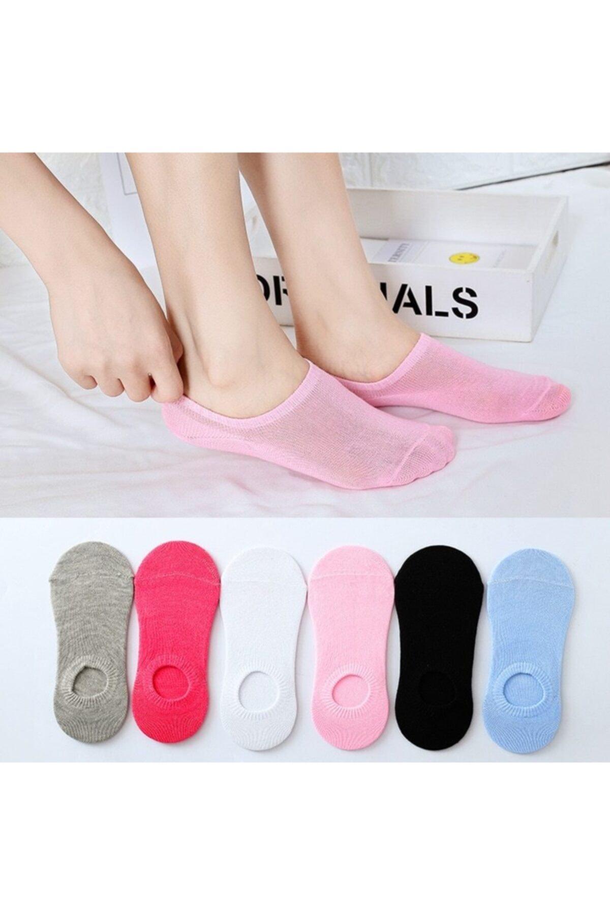 socksbox 6' Lı Paket Kadın Çok Renkli Bambu Bambu Görünmez (sneaker) Spor Ayakkabı Çorabı 1
