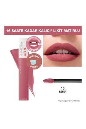 Maybelline New York Likit Mat Ruj - SuperStay Matte Ink Liquid Lipstick 15 Lover 3600531411107