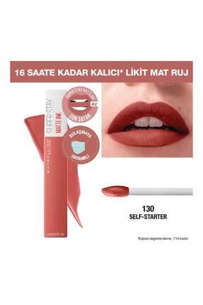 Maybelline New York Likit Mat Ruj - Superstay Matte Ink City Edition Lipstick 130 Self-starter 3600531513436
