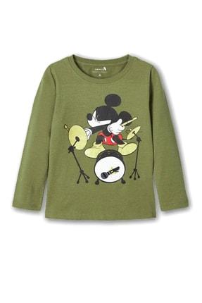 name ıt Name It  Erkek Çocuk Baterist Mickey Baskılı T-shirt
