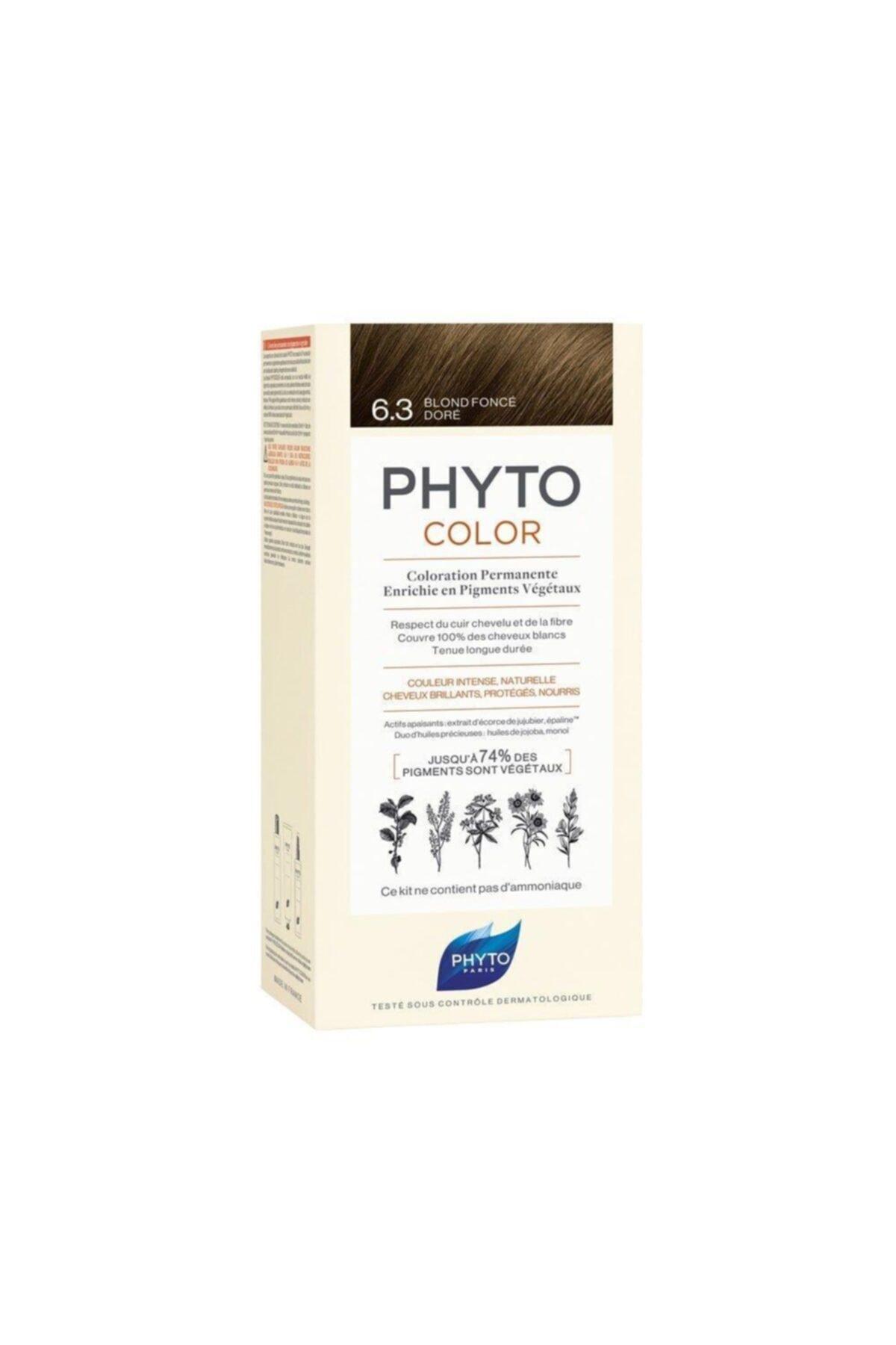 Phyto Koyu Kumral Yeni Seri Dore Saç Boyası Color 6.3 1