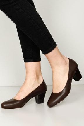 G.Ö.N Gön Hakiki Deri Kadın Topuklu Ayakkabı 77164