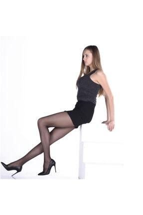 Elite Kadın Siyah Kilotlu Çorap Fit 15 2'li