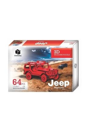 Pershang Jeep 3d Wooden Puzzle