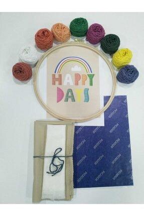 Hobinova Happy Days Punch Nakış Seti (iğnesiz)