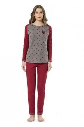 Pierre Cardin Kadın Bordo Pijama Takım L 1025