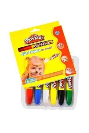 Play Dooh Play-doh Yüz Boyası 6 Renk 120 Mm. Play-yu001