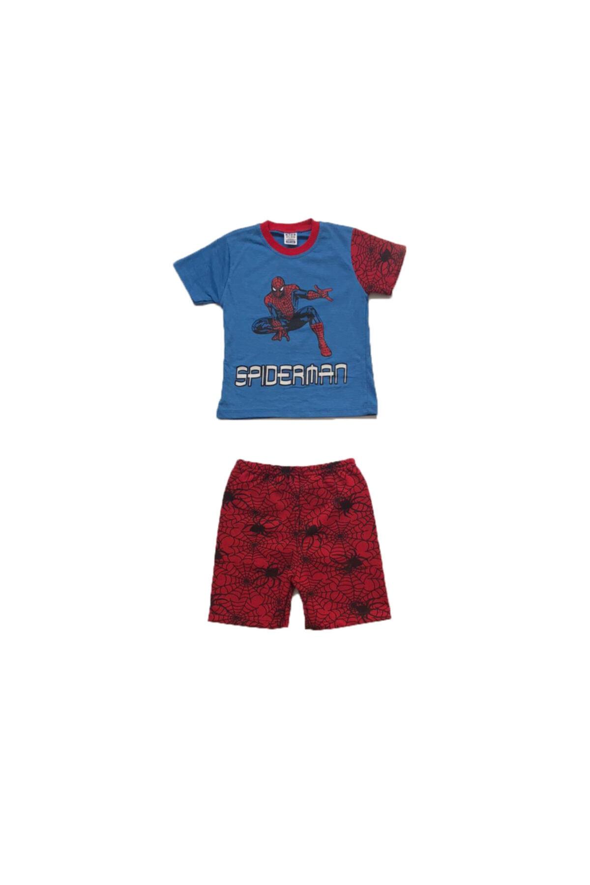 SPIDERMAN Erkek Çocuk Mavi Örümcek Adam Takım 1