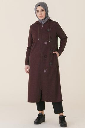 Sitare Kadın Bordo Önü Nakışlı Giyçık Tunik 20k359