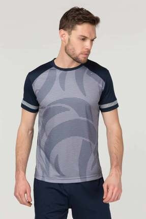 bilcee Lacivert Erkek Antrenman T-Shirt FS-9668