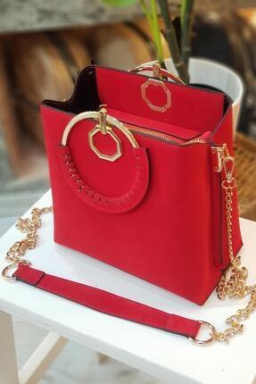 Limoya Bags Kırmızı Loreto El ve Omuz Çantası