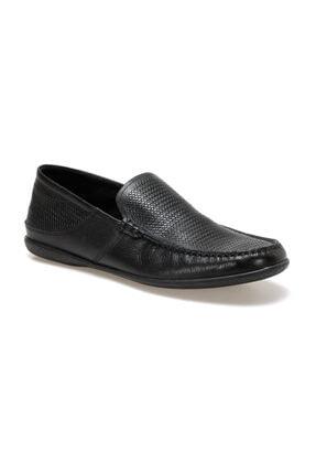 Flogart Erkek Siyah Hakiki Deri  Klasik Ayakkabı