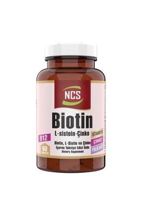 NCS Biotin 2500 Mcg 60 Tablet L Sistein Çinko Vitamin B12 Saç Ve Tırnak Sağlığını Korumaya Yardımcı