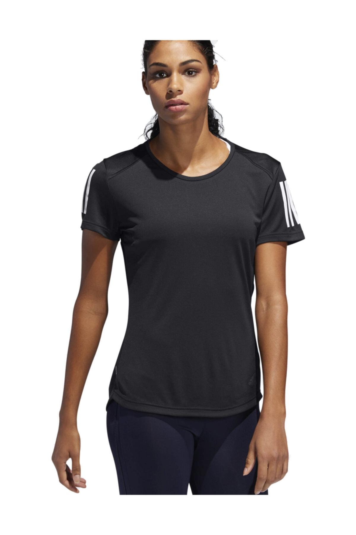 adidas OWN THE RUN TEE Siyah Kadın T-Shirt 101117560 1