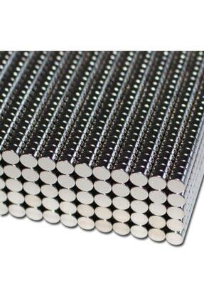 Dünya Magnet Yuvarlak Güçlü Neodyum Mıknatıs 100 Adet Çap 4 mm X Kalınlık 2 mm