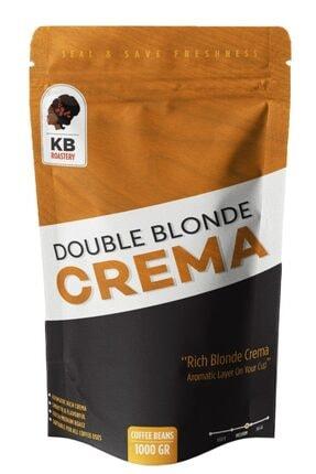 KOFFIEBOON Double Blonde Crema - 1 Kg - Çekirdek Kahve - Orta-koyu Kavrulmuş - Espresso / Filtre Kahve Uyumlu -