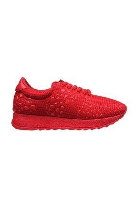MP Kadın Kırmızı Baskı Desenli Spor Ayakkabı