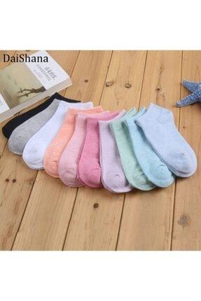 Carrier Plus 10 Çift Koton Ekonomik Karışık Renk Kadın Patik Çorap