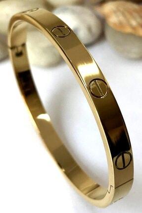 Bin1Gecem Takı Kadın Gold Paslanmaz Çelik Bileklik 18 cm