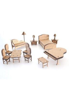 3D SERGİ 3d Ahşap Puzzle Ev Eşyaları Set 3  65 Parça