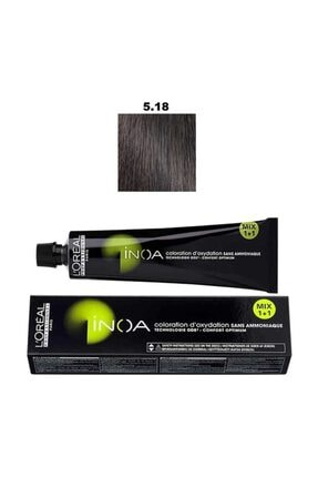 İNOA Inoa Saç Boyası - 5,18 Açık Küllü Mocha Kahverengi 60 G 3474630696266