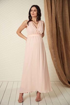 Işşıl O7052-baby Shower Hamile Şifon Abiye Elbise