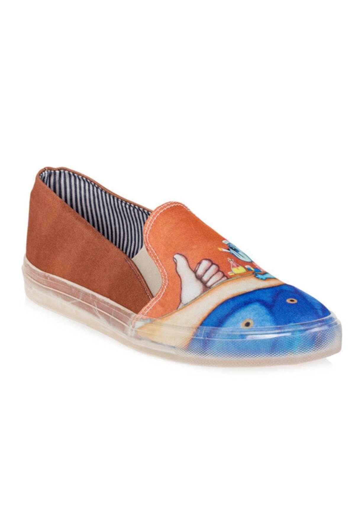 Biggdesign Erkek Kahverengi Mr. Allright Desenli Ayakkabı 2