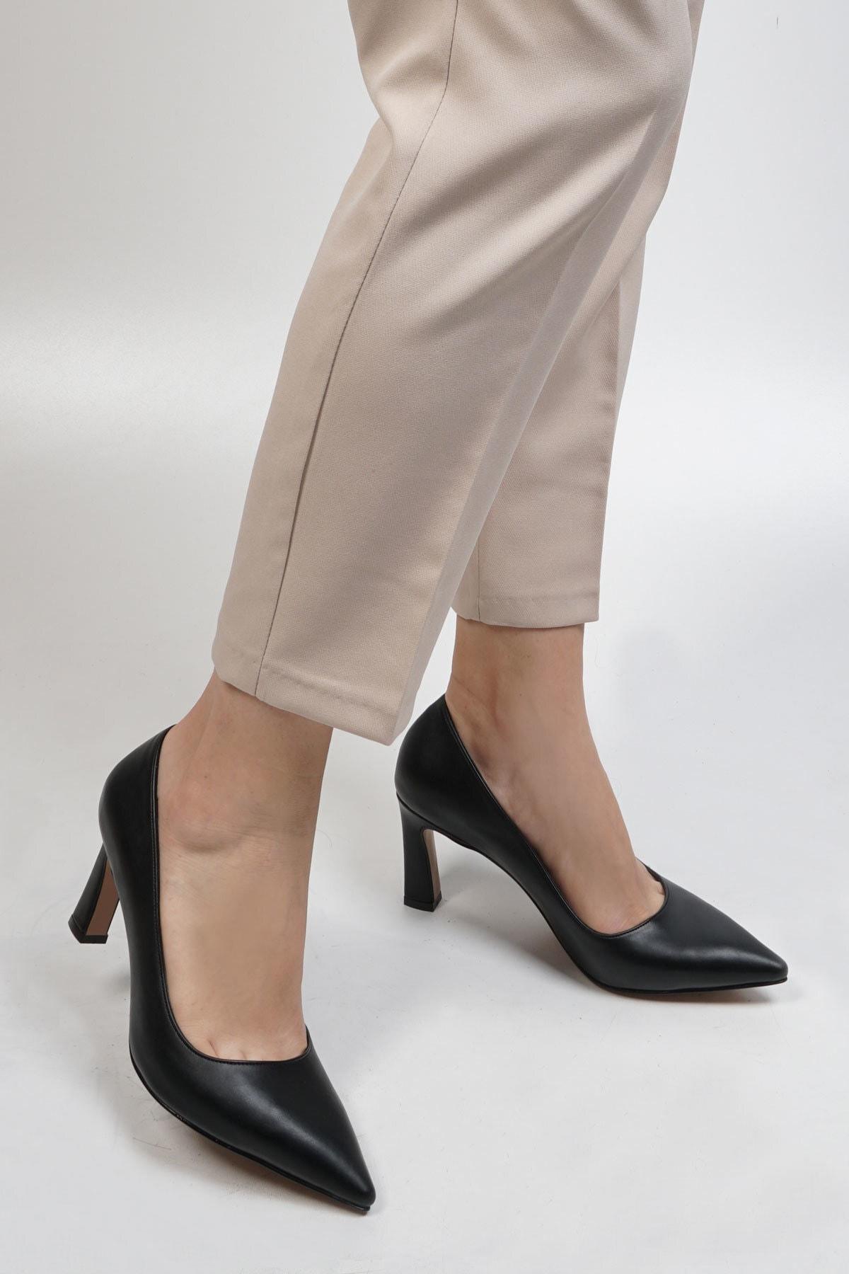 Marjin Siyah Kadın Akuna Stiletto Topuklu Ayakkabı 19K0016LR020 2