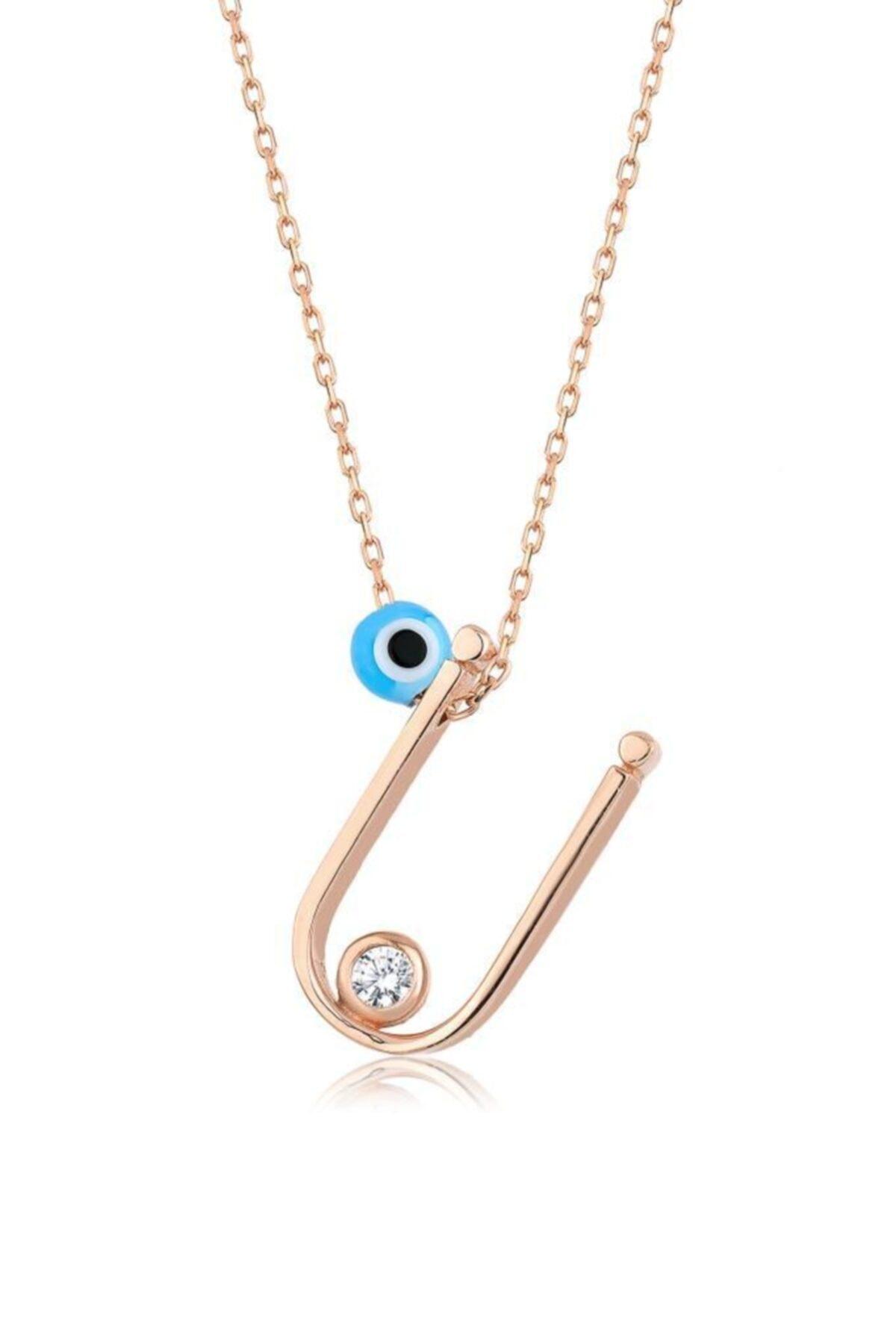 Mai Silver Kadın 925 Gümüş Harf Kolye 1
