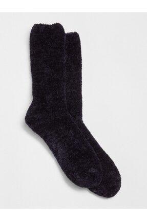 GAP Kadın Siyah Yumuşak Şönil Çorap