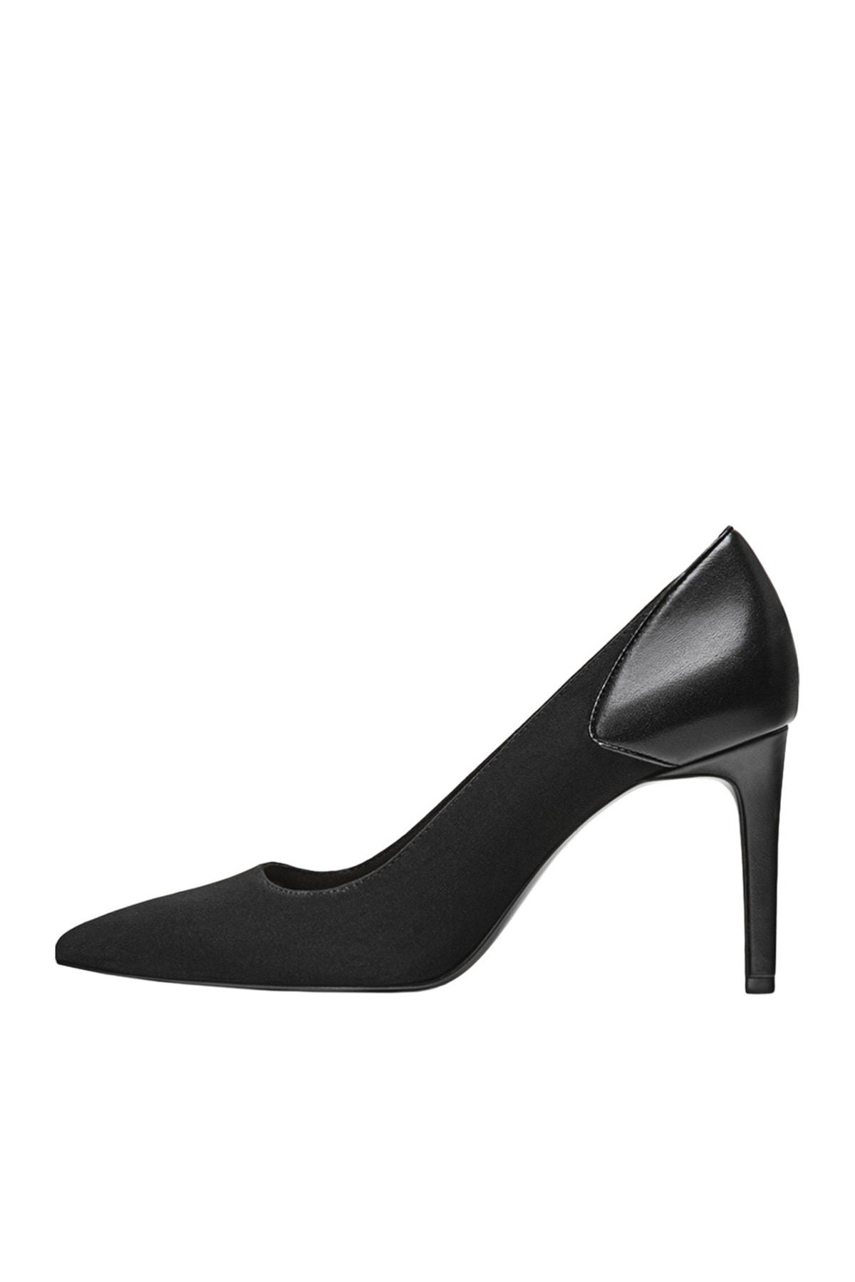 Stradivarius Kadın Siyah Yüksek Topuklu Kontrast Ayakkabı 19650670 1