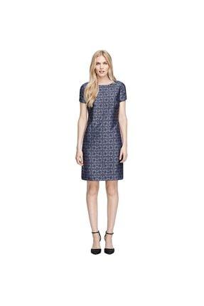 BROOKS BROTHERS Kadın Lacivert Geometrik Desenli Navy Elbise
