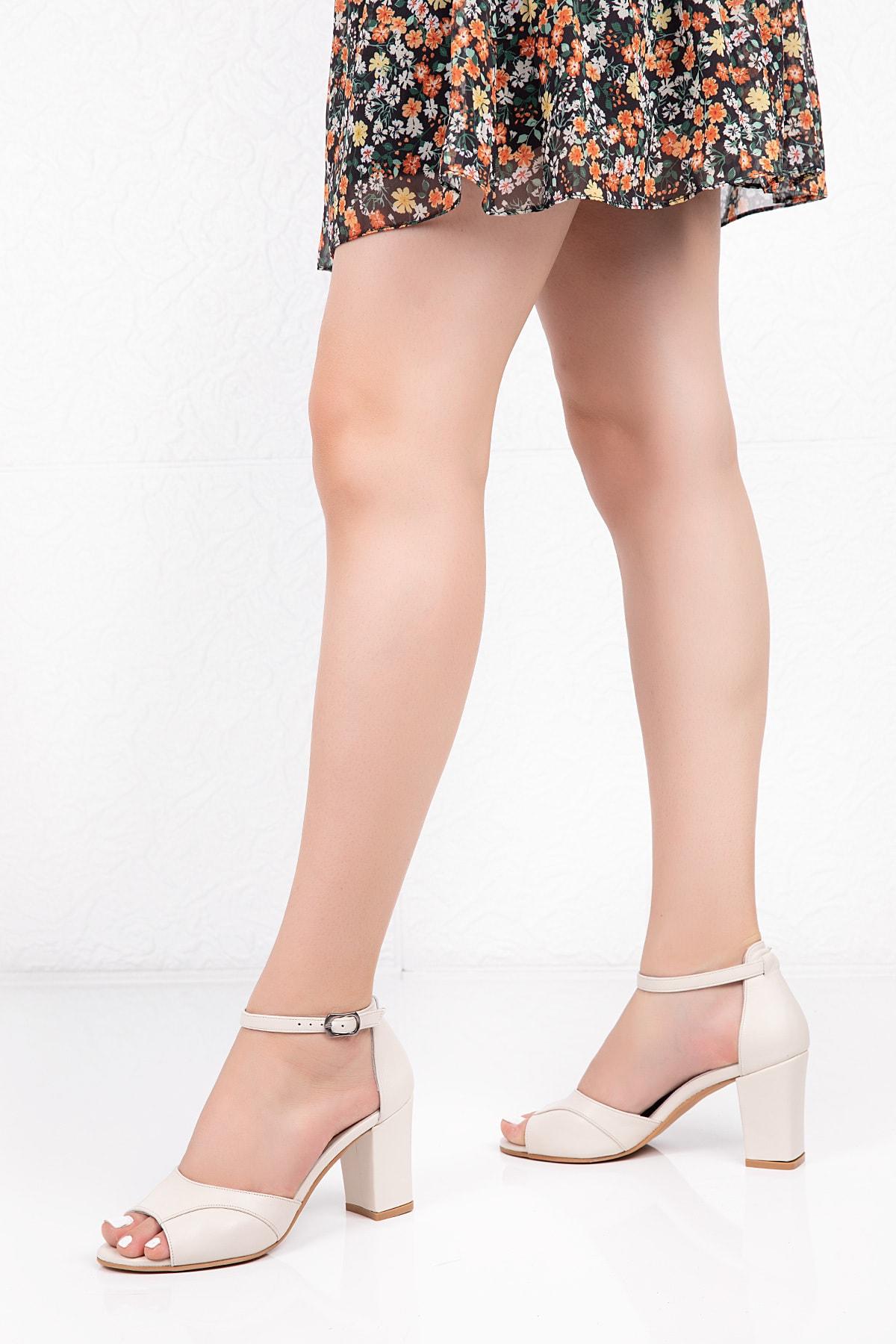 Gondol Hakiki Deri Topuklu Ayakkabı 1