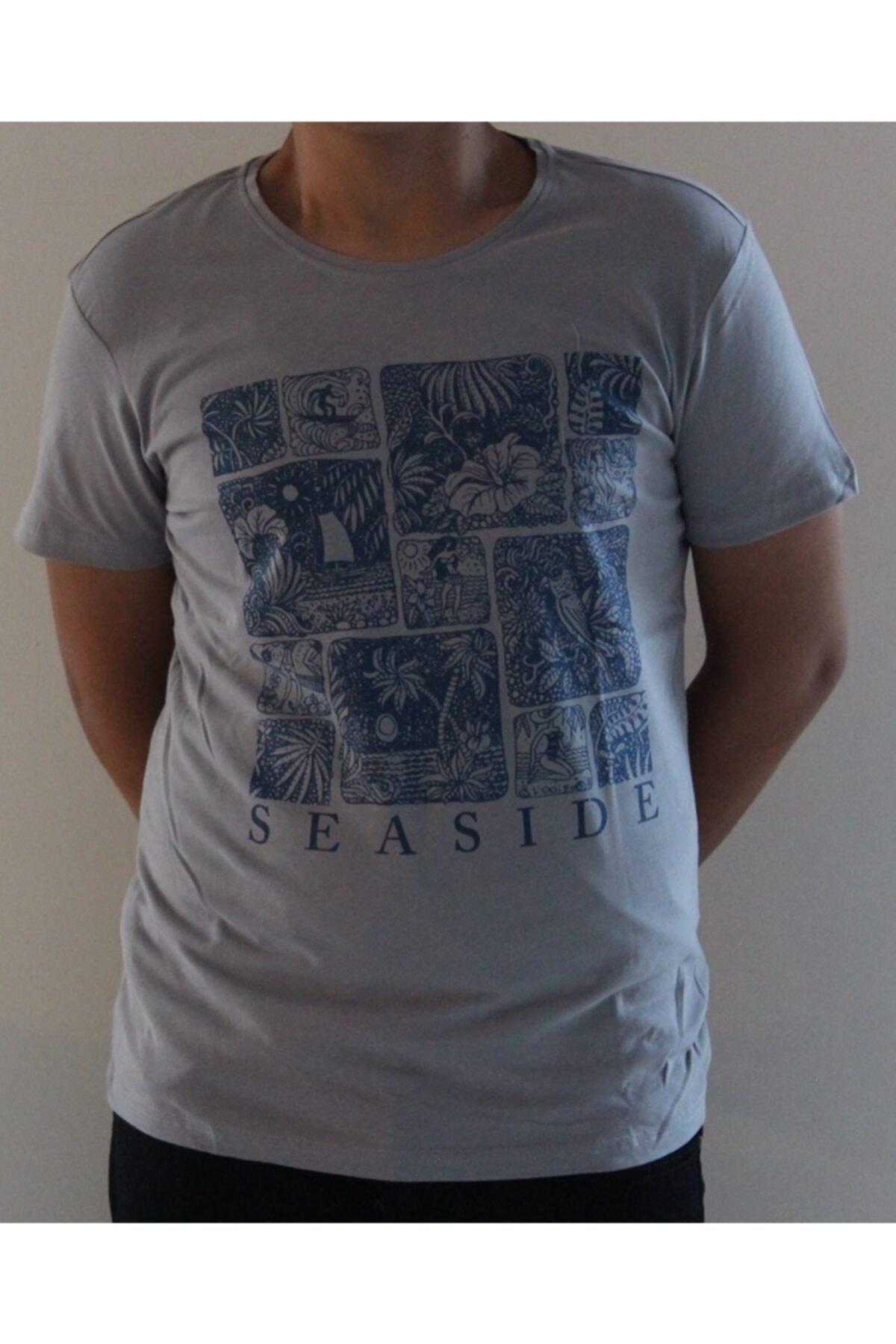 Lion Erkek Gri Bisiklet Yaka T-shirt 2711 2