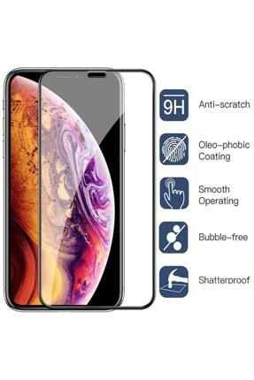 Apple Iphone 11 Pro Max Geniş Kavisli Tam Kaplayan 5d 6d Kırılmaz Cam ( Siyah )