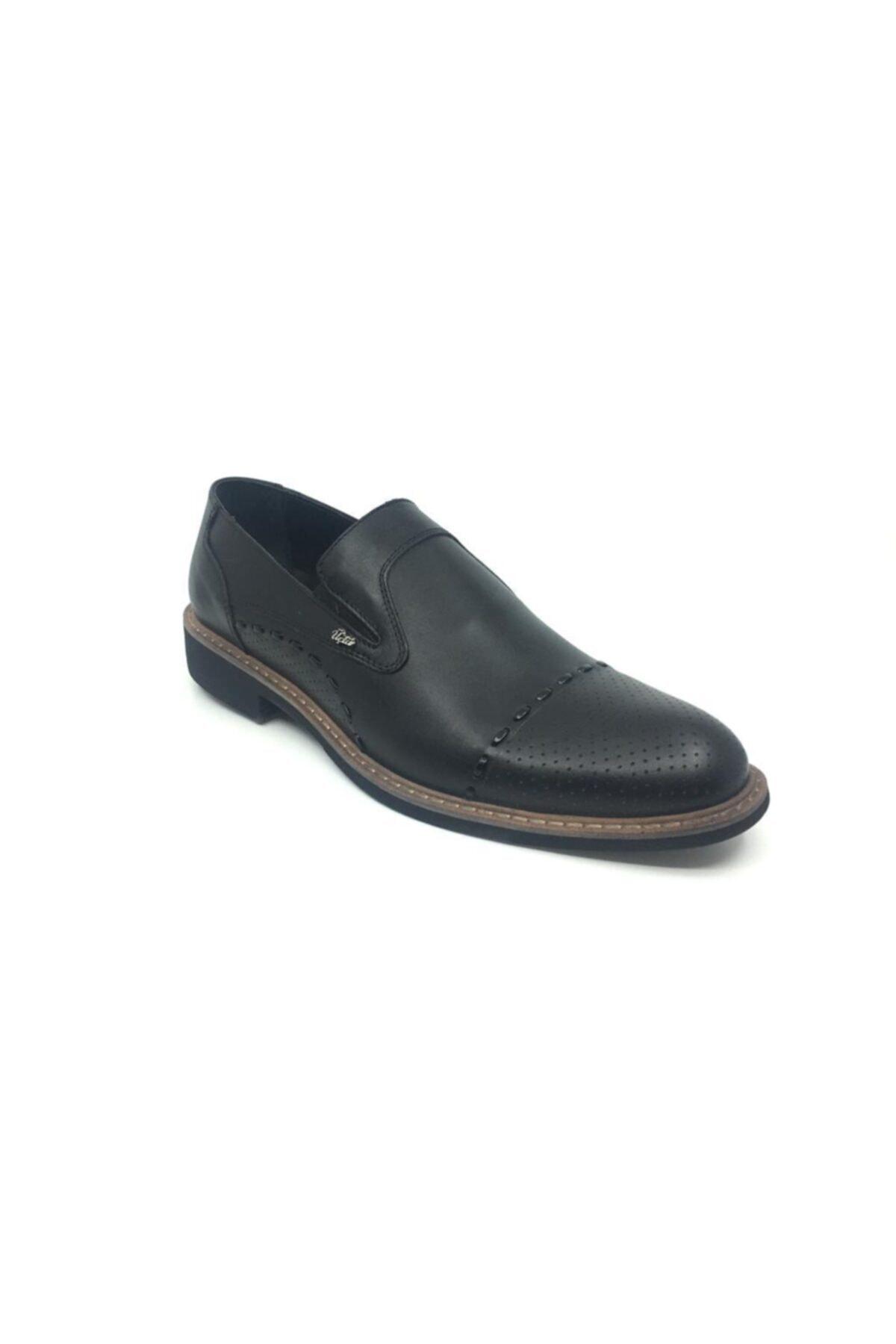 Taşpınar Erkek Siyah Deri  Klasik Yazlık Ayakkabı 1